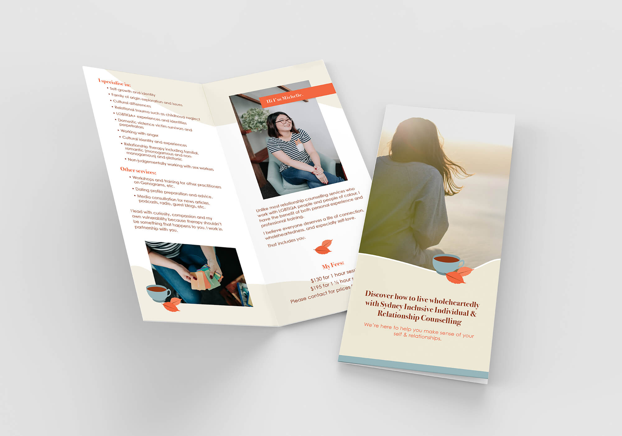 brochure design for counselling business