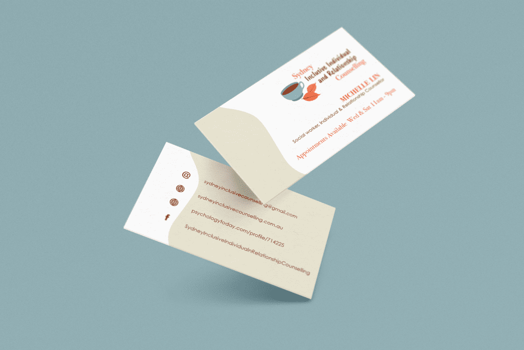 business card design for branding project