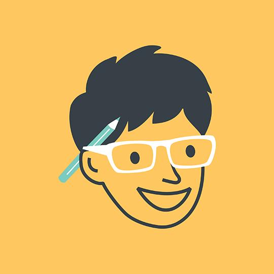 Barbara Nigg Face Illustration on Yellow