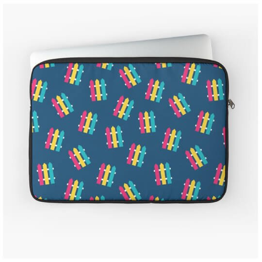 Surface pattern design applied to a laptop case