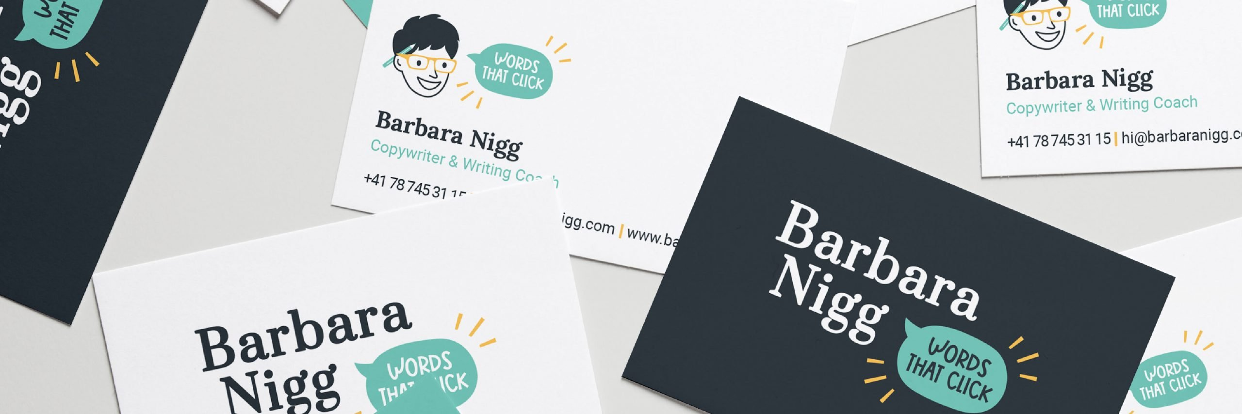 Business Card Design for the Barbara Nigg Brand