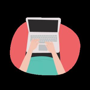 laptop digital illustration