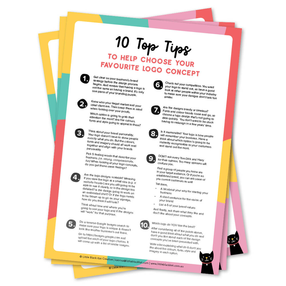 how to check your logo proofs tip sheet