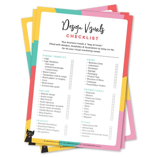 Free Design collateral checklist for businesses