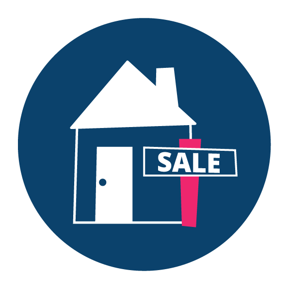 Navy and pink for sale icon