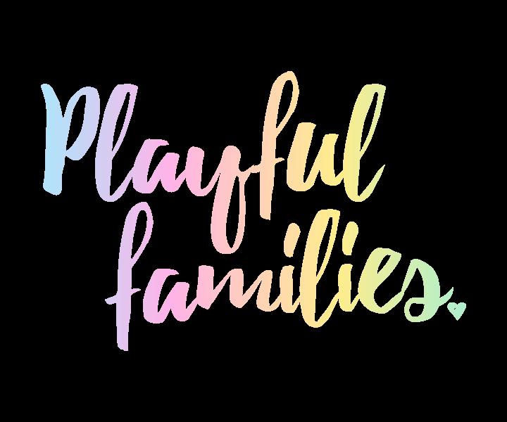 Playful Families Logo in Rainbow