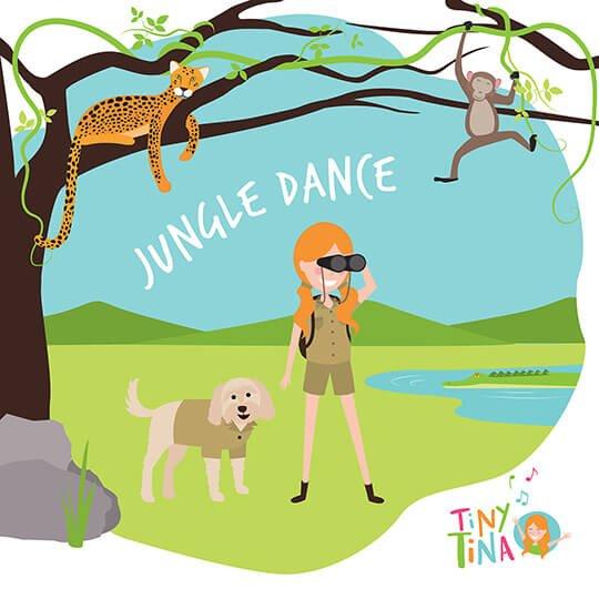 jungle safari illustration drawn by Brisbane illustrator Kat Potter