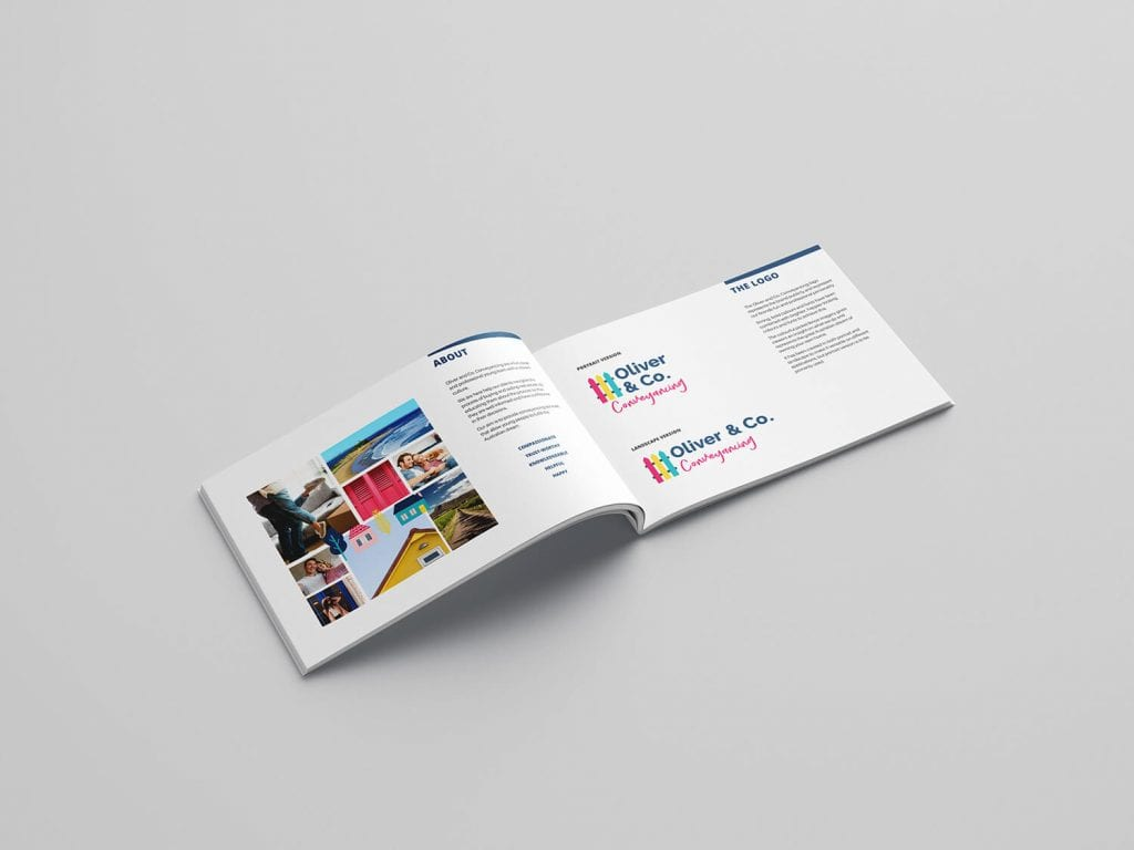brand style guide for conveyancing branding project