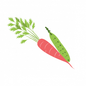 peas and carrots illustration